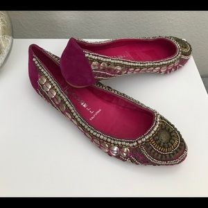 Jeffrey Campbell Indian Fuchsia Pointed Toe Flats
